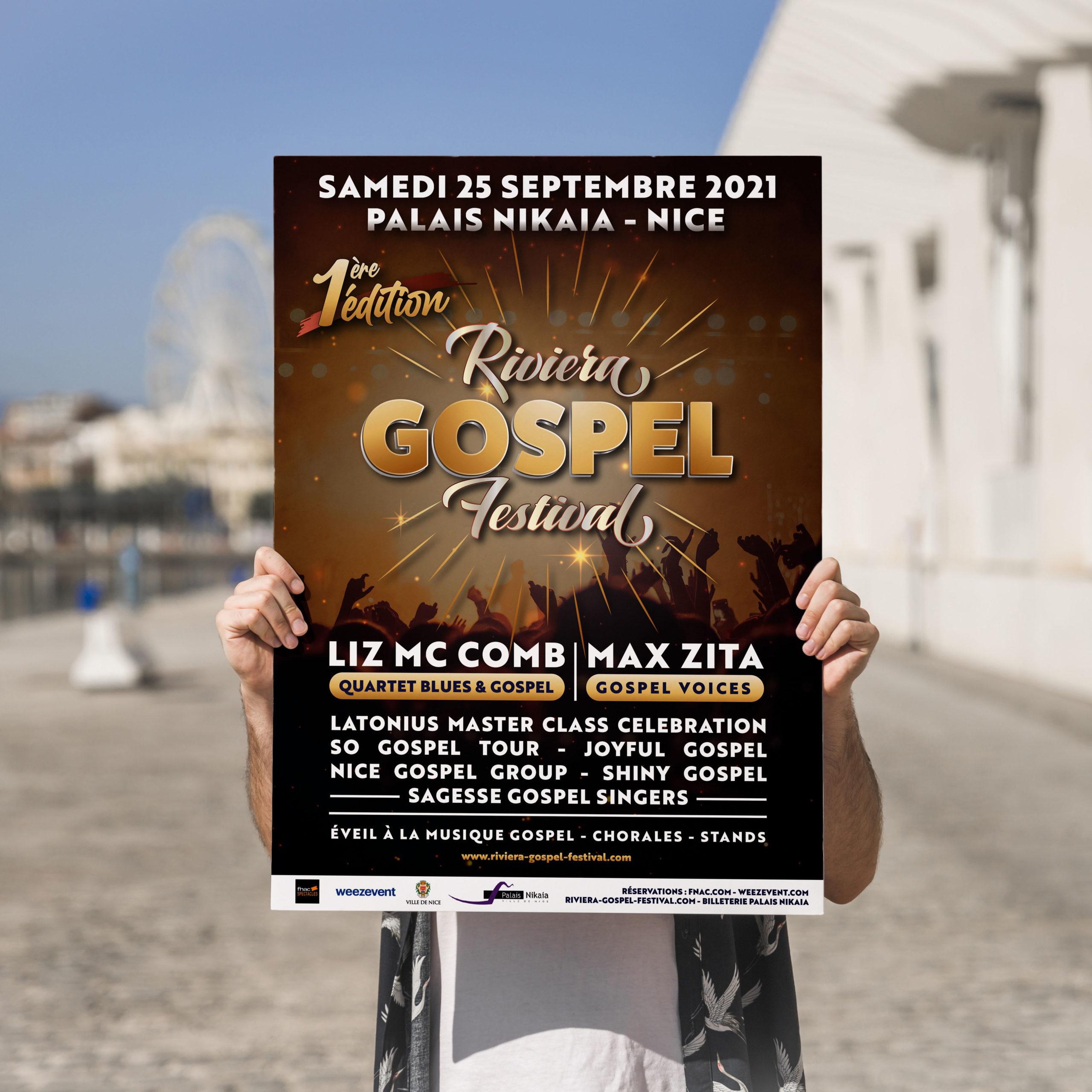 affiche riviera gospel festival